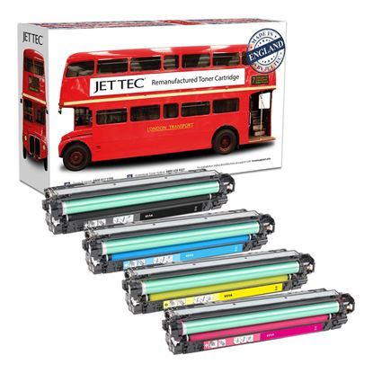 Picture of Red Bus Recycled HP 651A Black, Cyan, Magenta, Yellow (CE340/1/2/3A) Toner Cartridge Multipack