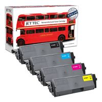 Picture of Red Bus Recycled Kyocera TK-580 Black, Cyan, Magenta, Yellow Toner Cartridge Multipack