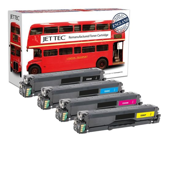 Picture of Red Bus Recycled Samsung CLT-504S Black, Cyan, Magenta, Yellow Toner Cartridge Multipack