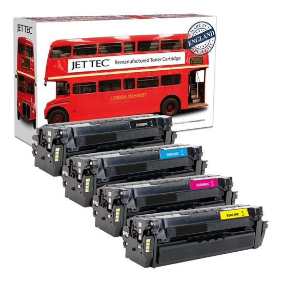 Picture of Red Bus Recycled Samsung CLT-506L High Yield Black, Cyan, Magenta, Yellow Toner Cartridge Multipack