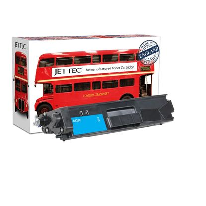Picture of Red Bus Recycled Brother TN-325C High Yield Cyan Toner Cartridge