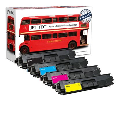 Picture of Red Bus Recycled Brother TN-326 High Yield Black, Cyan, Magenta, Yellow Toner Cartridge Multipack