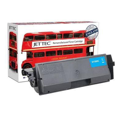 Picture of Red Bus Recycled Kyocera TK-580C Cyan Toner Cartridge