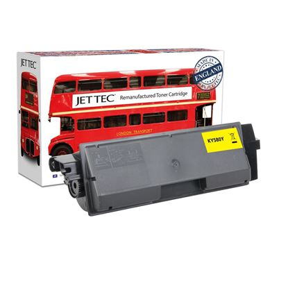 Picture of Red Bus Recycled Kyocera TK-580Y Yellow Toner Cartridge