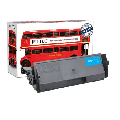 Picture of Red Bus Recycled Kyocera TK-590C Cyan Toner Cartridge
