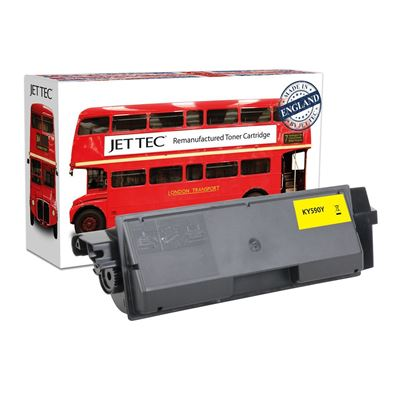 Picture of Red Bus Recycled Kyocera TK-590Y Yellow Toner Cartridge