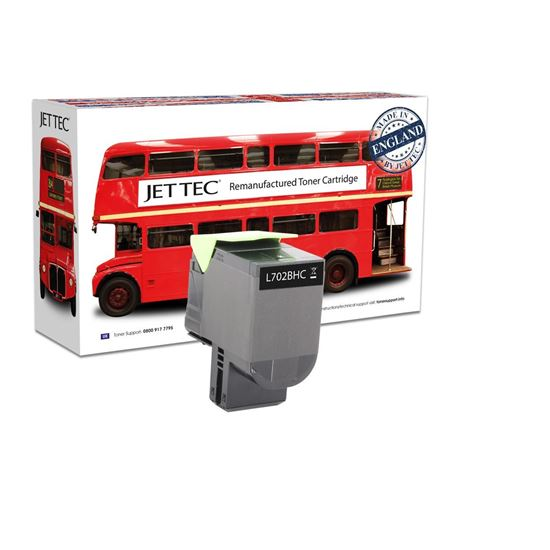 Picture of Red Bus Recycled Lexmark 70C2HK0 High Yield Black (702HK) Toner Cartridge