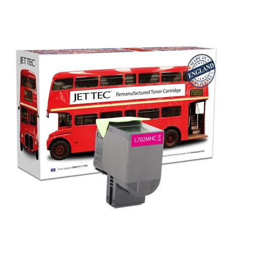 Picture of Red Bus Recycled Lexmark 70C2HM0 High Yield Magenta (702HM) Toner Cartridge
