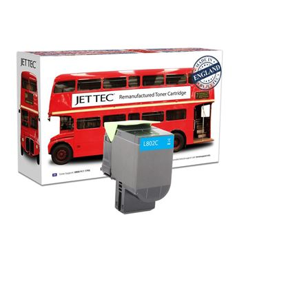 Picture of Red Bus Recycled Lexmark 80C20C0 Cyan (802C) Toner Cartridge