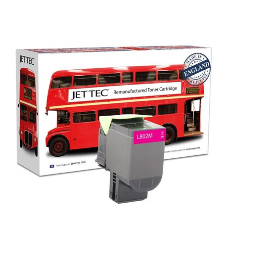 Picture of Red Bus Recycled Lexmark 80C20M0 Magenta (802M) Toner Cartridge