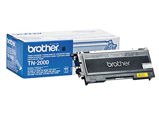 Picture of Brother TN-2000 Black Original Toner Cartridge (TN2000 Laser Toner)