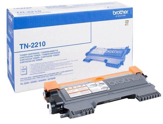 Picture of Brother TN-2210 Black Original Toner Cartridge (TN2210 Laser Toner)