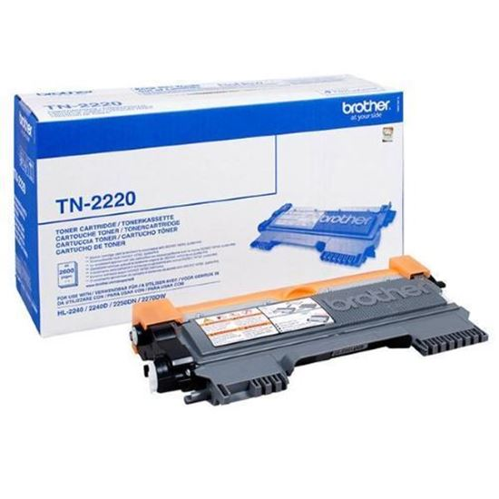 Picture of Brother TN-2220 High Yield Black Original Toner Cartridge (TN2220 Laser Toner)