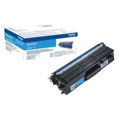 Picture of Brother TN-421C Cyan Original Toner Cartridge (TN421C Laser Toner)