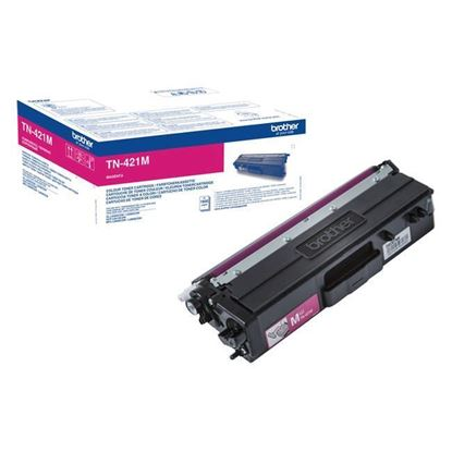 Picture of Brother TN-421M Magenta Original Toner Cartridge (TN421M Laser Toner)