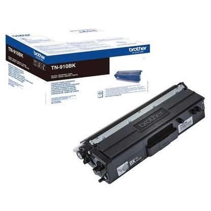 Picture of Brother TN-910BK Black Original Toner Cartridge (TN910BK Laser Toner)