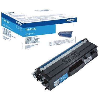 Picture of Brother TN-910C Cyan Original Toner Cartridge (TN910C Laser Toner)