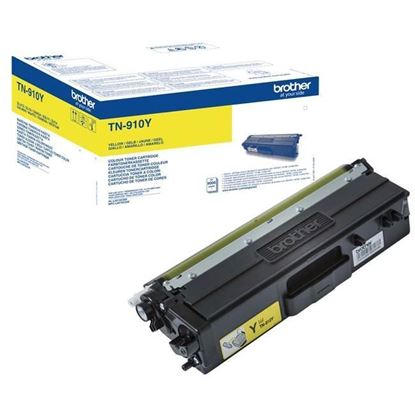 Picture of Brother TN-910Y Yellow Original Toner Cartridge (TN910Y Laser Toner)