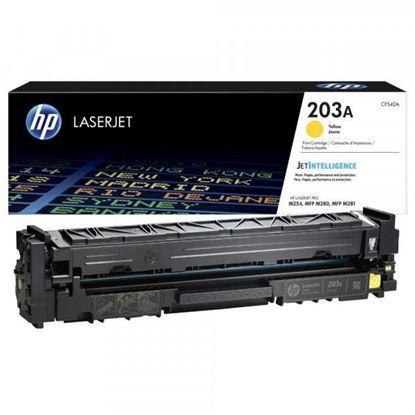 Picture of HP 203A Yellow Original Toner Cartridge (CF542A Laser Toner)