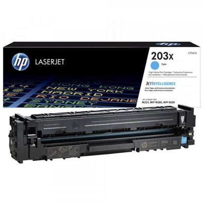 Picture of HP 203X High Yield Cyan Original Toner Cartridge (CF541X Laser Toner)