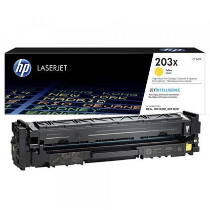 Picture of HP 203X High Yield Yellow Original Toner Cartridge (CF542X Laser Toner)