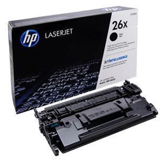Picture of HP 26X High Yield Black Original Toner Cartridge (CF226X Laser Toner)