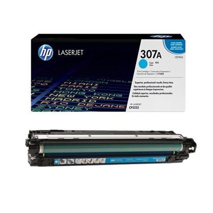 Picture of HP 307A Cyan Original Toner Cartridge (CE741A Laser Toner)