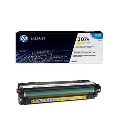 Picture of HP 307A Yellow Original Toner Cartridge (CE742A Laser Toner)