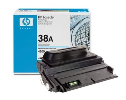 Picture of HP 38A Black Original Toner Cartridge (Q1338A Laser Toner)