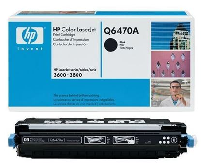 Picture of HP 501A Black Original Toner Cartridge (Q6470A Laser Toner)