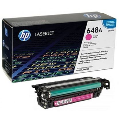 Picture of HP 648A Magenta Original Toner Cartridge (CE263A Laser Toner)