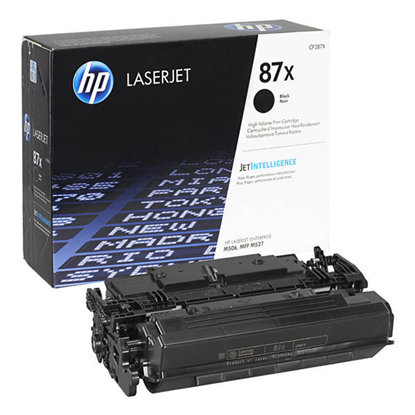 Picture of HP 87X High Yield Black Original Toner Cartridge (CF287X Laser Toner)