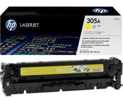 Picture of HP 305A Yellow Original Toner Cartridge (CE412A Laser Toner)