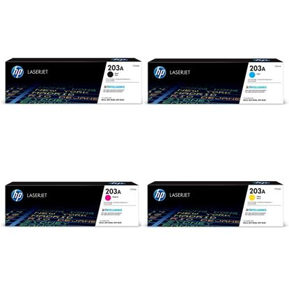 Picture of HP 203A Black, Cyan, Magenta, Yellow Original Toner Cartridge Multipack (CF540/1/2/3A Laser Toner)