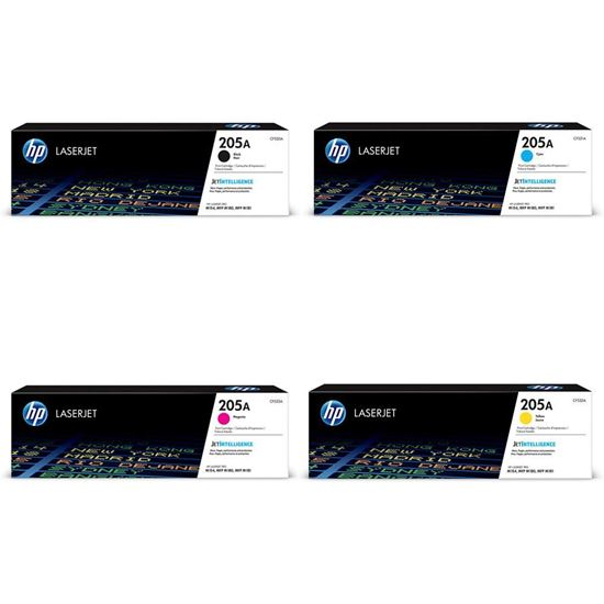 Picture of HP 205A Black, Cyan, Magenta, Yellow Original Toner Cartridge Multipack (CF530/1/2/3A Laser Toner)