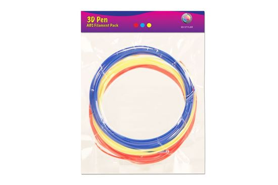 Picture of 3D Styler ABS Filament - Red, Blue, Yellow