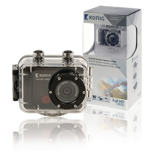 Picture of Konig Full HD Action Camera 1080p | Waterproof Housing | Black