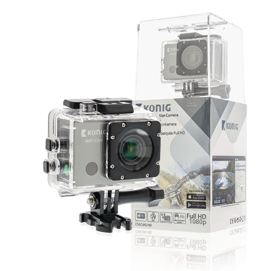 Picture of Konig Full HD Action Camera 1080p | Wi-Fi | GPS | Black