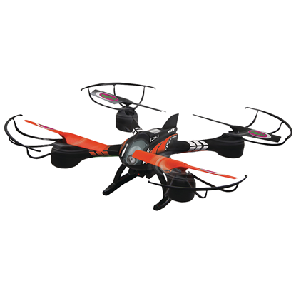Picture of Jamara R/C Drone Loky 4+4 Channel RTF / Photo / Video / With Lights / 360 Flip / FPV 2.4 GHz Control Black
