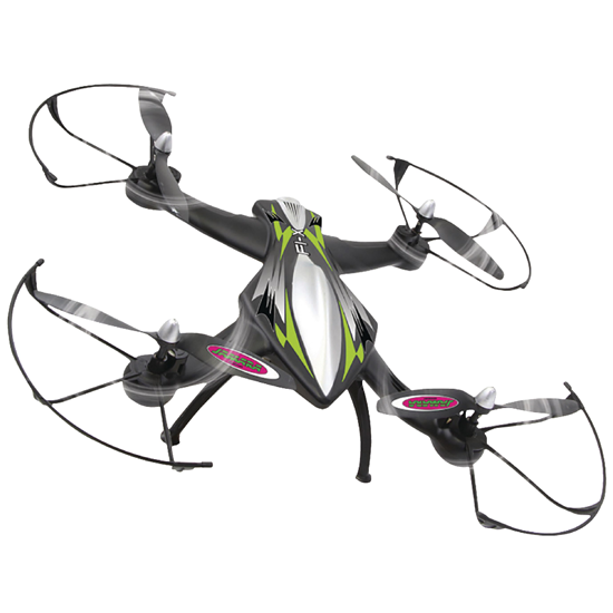 Picture of Jamara R/C Drone F1X 4+7 Channel RTF / Photo / Video / Gyro Inside / With Lights / 360 Flip / FPV 2.4 GHz Control Black