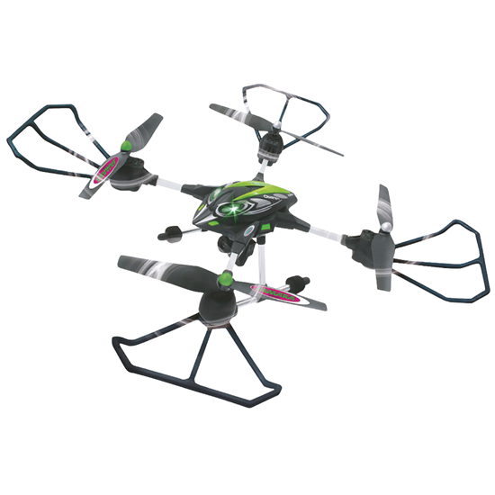 Picture of Jamara R/C Drone Oberon Altitude 4+6 Channel RTF / Photo / Video / With Lights / 360 Flip 2.4 GHz Control Green
