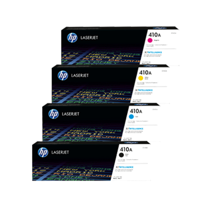 Picture of HP 410A Black, Cyan, Magenta, Yellow Original Toner Cartridge Multipack (CF410/1/2/3A Laser Toner)