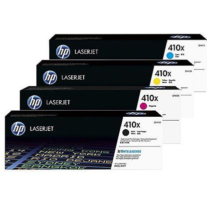 Picture of HP 410X High Yield Black, Cyan, Magenta, Yellow Original Toner Cartridge Multipack (CF410/1/2/3X Laser Toner)