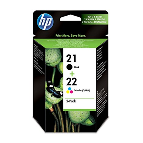 Picture of HP 21 Black & HP 22 Colour Original Ink Cartridge Combo Pack