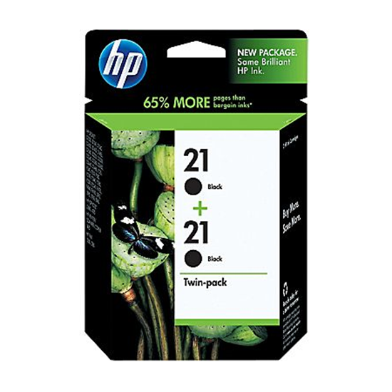 Picture of HP 21 Black Original Ink Cartridge Twin Pack