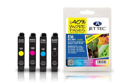 Picture of Red Bus Recycled Epson T1626 Black, Cyan, Magenta, Yellow Ink Cartridge Multipack