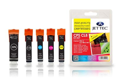 Picture of Red Bus Recycled Canon PGI-5/CLI-8 Black, Cyan, Magenta, Yellow Ink Cartridge Multipack