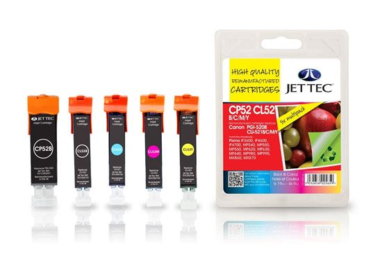 Picture of Red Bus Recycled Canon PGI-520/CLI-521 Black, Cyan, Magenta, Yellow Ink Cartridge Multipack