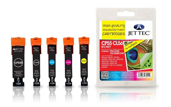 Picture of Red Bus Recycled Canon PGI-525/CLI-526 Black, Cyan, Magenta, Yellow Ink Cartridge Multipack