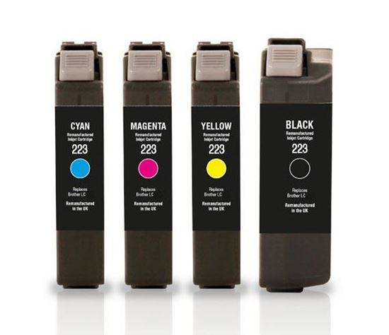 Picture of Jet Tec Recycled Brother LC223 Ink Cartridge Multipack